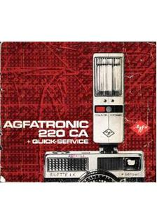 Agfa Agfatronic 220 CA manual