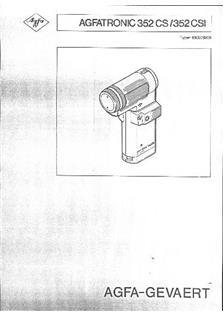 Agfa Agfatronic 352 CSI manual