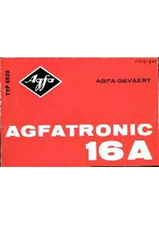 Agfa Agfatronic 16 A manual
