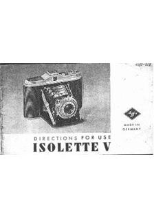 Agfa Isolette 5 manual