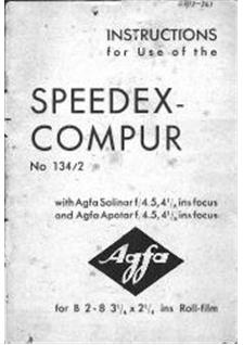 Agfa Speedex Compur manual