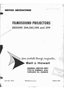 Bell and Howell 385 manual
