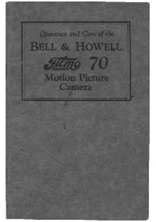 Bell and Howell Filmo 70 B manual