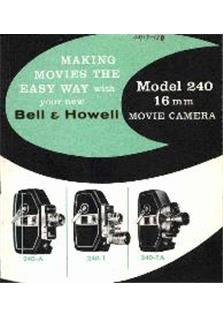 Bell and Howell 240 A manual