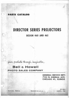 Bell and Howell 465 manual