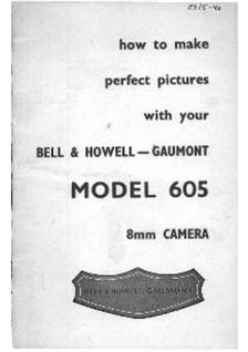 Bell and Howell 605 manual