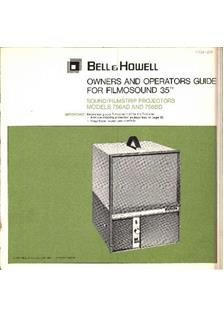 Bell and Howell 756 manual