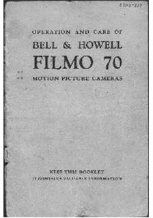 Bell and Howell Filmo 70 E manual