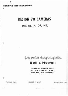 Bell and Howell Filmo 70 DA manual