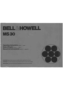 Bell and Howell MS 30 manual