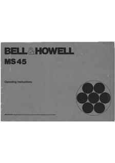 Bell and Howell MS 45 manual