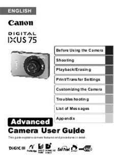 canon digital ixus 75  camera  manuals canon ixus 200 is manual canon ixus 200 is manual pdf