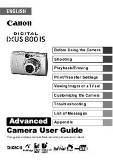 Canon Digital Ixus 800 IS
