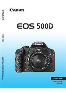 canon eos rebel t1i eos 500d instruction manual