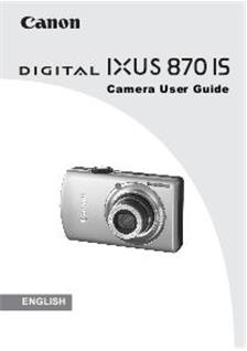 canon digital ixus 870 is  camera  manuals canon digital ixus 870 is mode d'emploi canon ixus 870 is manual pdf