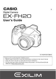 casio exilim camera instruction manual