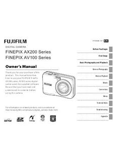 Fujifilm FinePix AV150 Printed Manual