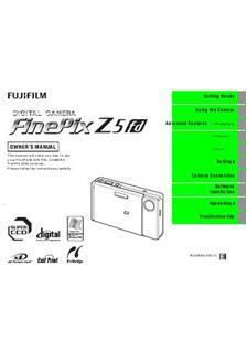 Fujifilm FinePix Z5 fd Printed Manual