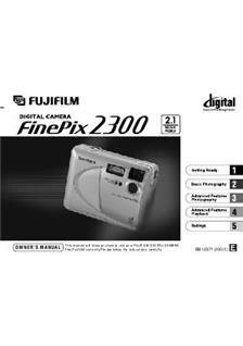 Fujifilm FinePix 2300 Printed Manual