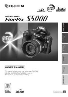 Fujifilm finepix s5000 camera manuals for Fujifilm finepix s5000 prix