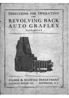Graflex Auto Graflex Printed Manual