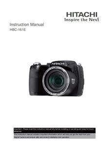 hitachi hbc 161e camera manuals rh camera manual com Hitachi Excavator Repair Manual hitachi action camera manual