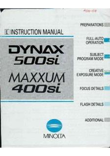 Minolta Dynax 500 si Printed Manual