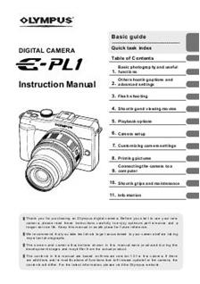 olympus pen e pl1 manual