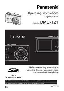 Panasonic Lumix TZ1 Printed Manual