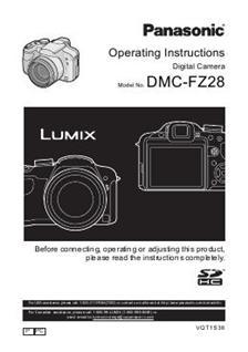 panasonic lumix fz28 camera manuals. Black Bedroom Furniture Sets. Home Design Ideas