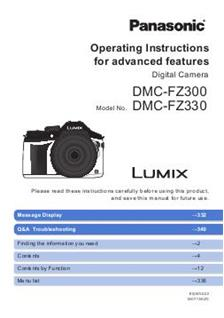 Panasonic Lumix FZ330 Printed Manual