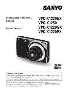 sanyo vpc x 1250 camera manuals rh camera manual com sony camera manuals to purchase sony camera manuals