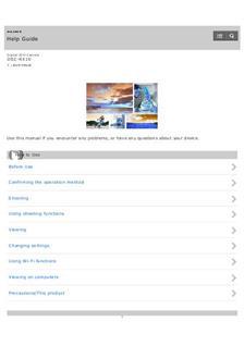 sony rx10 iv manual pdf