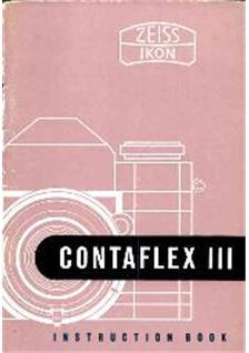 Zeiss Ikon Contaflex 3 Printed Manual