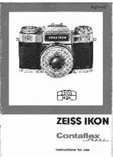 Zeiss Ikon Contaflex Super Printed Manual