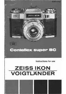 Zeiss Ikon Contaflex Super BC Printed Manual