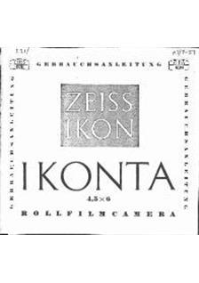 Zeiss Ikon Ikonta - Series Printed Manual