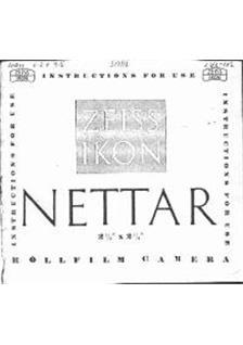 Zeiss Ikon Nettar Printed Manual