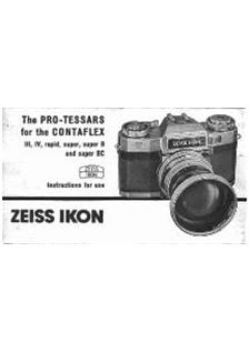 Zeiss Ikon Contaflex 3 Printed Manual